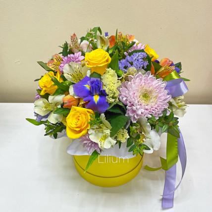 Коробка цветов << Солнечный день>>