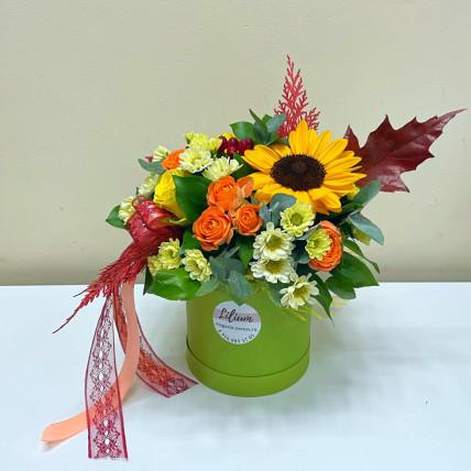 "Коробочка цветов "" Осеннее солнышко """