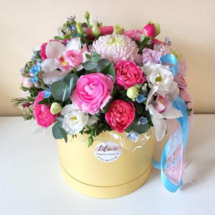 Коробка цветов <<Это просто счастье ! >>