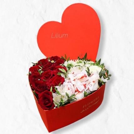 """Сердце """"Цветы и конфеты"""""""