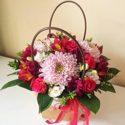 Букет в сумочке << Ягодный цвет >>