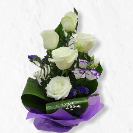 Букет из 5-ти белых роз