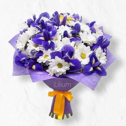 """Букет из ирисов """"Просто цветы"""""""