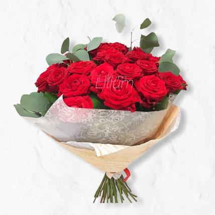 """Букет """" Аромат розы и эвкалипта """""""