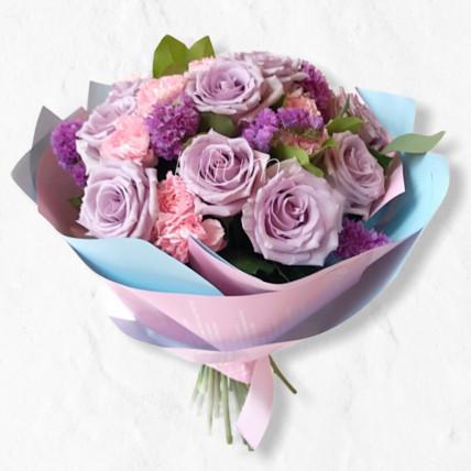 Букет с сиреневой розой