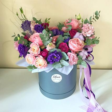 """Коробка цветов """" Счастливый вечер"""""""