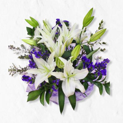 """Букет из лилий """"Просто цветы"""""""
