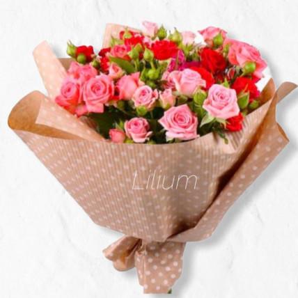 """Букет из кустовой розы""""Просто цветы"""""""