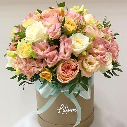 """Цветы в коробке """"Розовая жемчужина"""""""