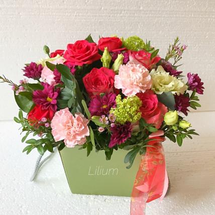 """Цветы в коробке """" Моей дорогой """""""