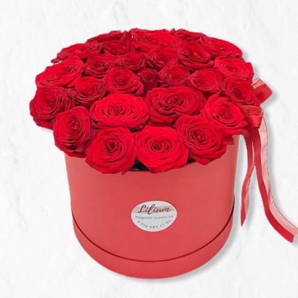 """Коробка красных роз """"Любовь"""""""