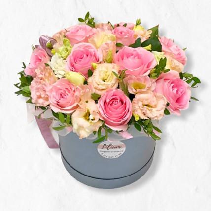 """Цветы в коробке """" Розовые мотыльки """""""