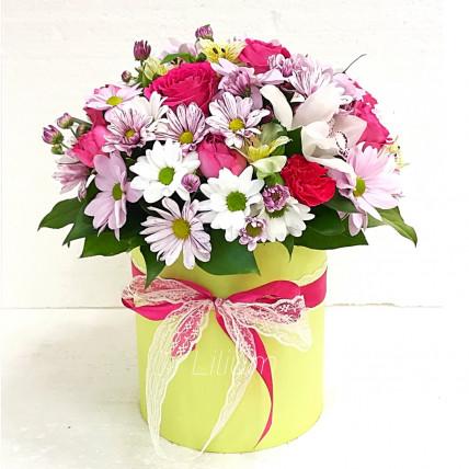 """Цветы в коробке """" Наше лето"""""""
