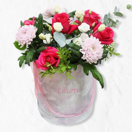 """Цветы в коробке """" С радостью """""""