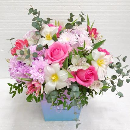 """Цветы в коробке """" Моей звёздочке"""""""