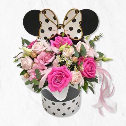 "Цветы в коробке "" Микки """