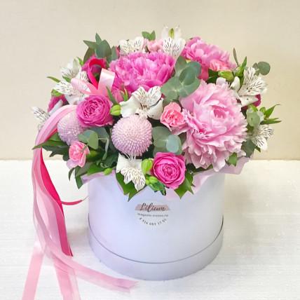 """Цветы в коробке """" Нежный июнь  """""""