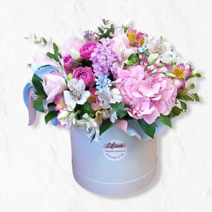 """Цветы в коробке """" Нежное кружево"""""""