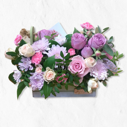 """Цветы в ящике """" Лавандер """""""