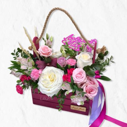 """Цветы в ящике """" Любимой мамочке """""""