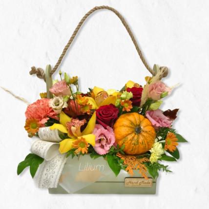 """Цветы в ящике """" Осенний восторг"""""""