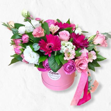 """Цветы в коробке """" Милое поздравление"""""""
