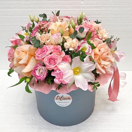 """Цветы в коробке """" Для самой любимой"""""""