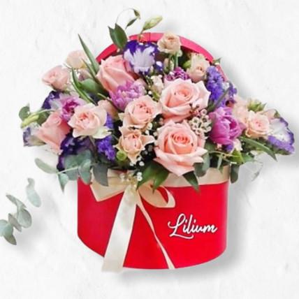 """Цветы в коробке """"Рассвет"""""""