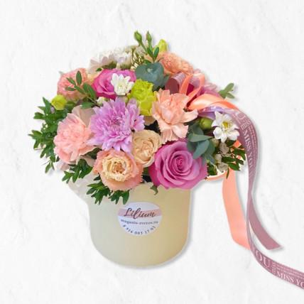 """Коробочка цветов """" Милая красивая """""""