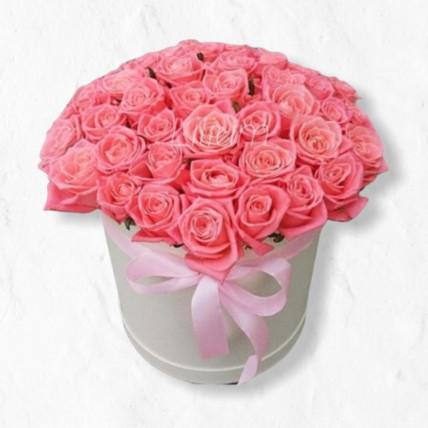 """Коробка цветов """"Розовая роза"""""""