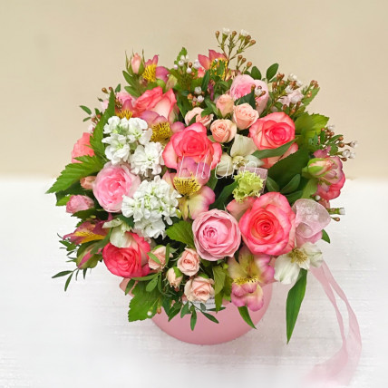 """Цветы в коробке """" Летнее настроение """""""