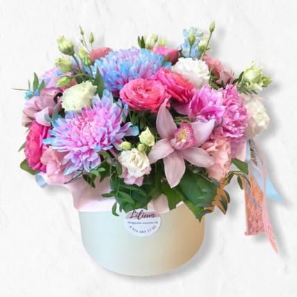 """Цветы в коробке """" Акварель """""""