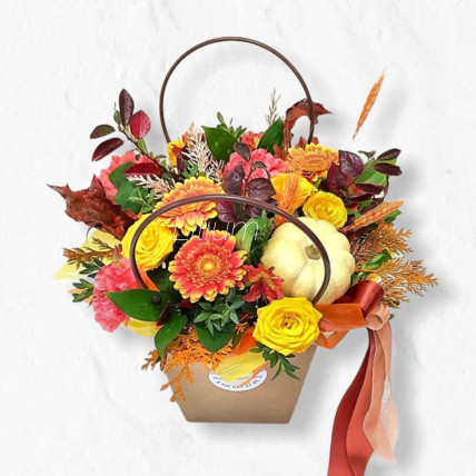 """Цветы в сумочке """" Осенний привет"""""""
