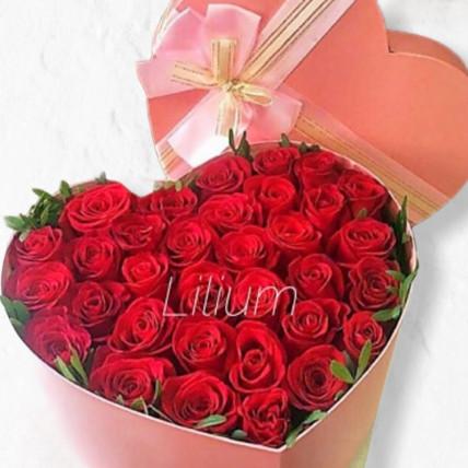 """Розы в коробке """"Моё сердце"""""""