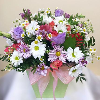 """Цветы в коробке """" Любит не любит"""""""
