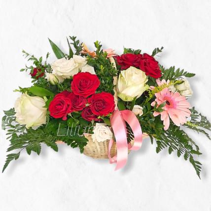 """Корзинка цветов """" Радостный день """""""
