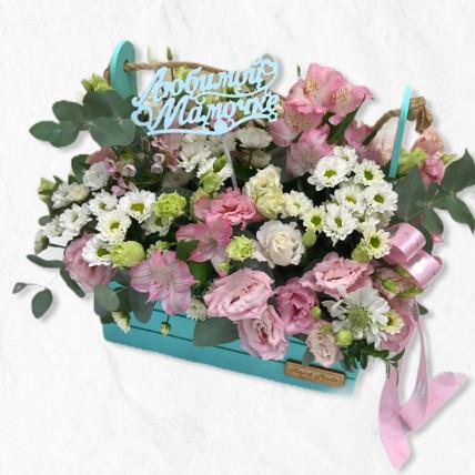 """Цветы в ящике """" Мамочке """""""