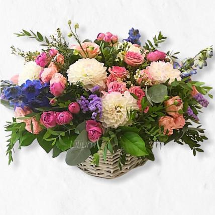 """Корзина цветов """" Райский сад"""""""