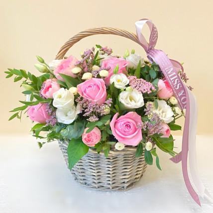 """Корзина цветов """" Моей милой """""""