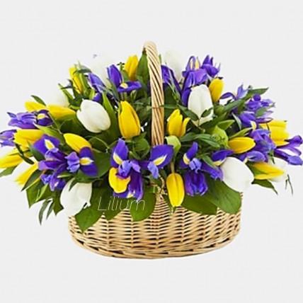 """Корзина цветов """" Любовь весной"""""""