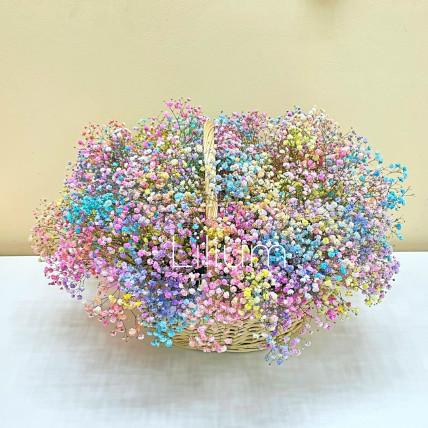"Корзина цветов "" Счастливая радуга """
