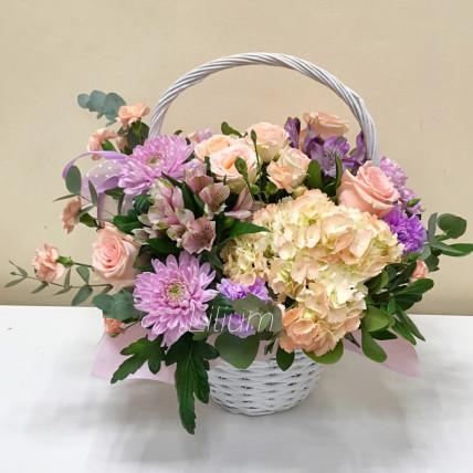 """Корзина цветов """" Вдохновение """""""
