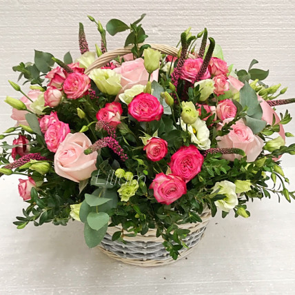 """Корзина цветов """"С нежностью"""""""