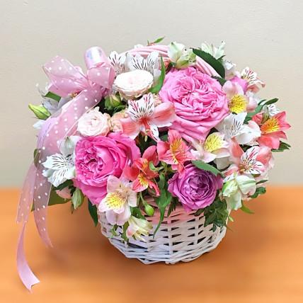 """Корзина цветов """" Нежное поздравление """""""