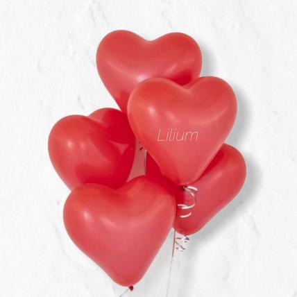 Сет из 5 сердечек